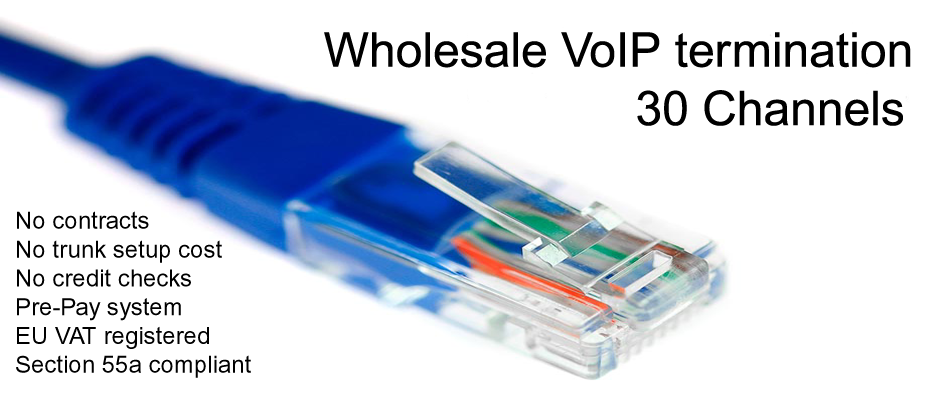 Wholesale VoIP termination and SIP Trunks